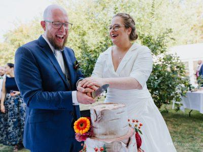 Eine geschmackvolle Hochzeitstorte